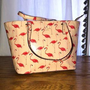 Kate Spade flamingo medium satchel